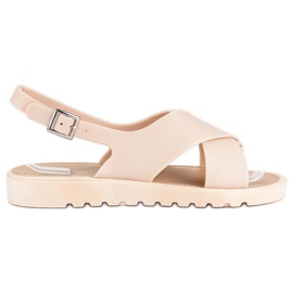 Beżowe sandały meliski beżowy