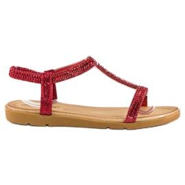 Fama Czerwone Sandały Z Gumką