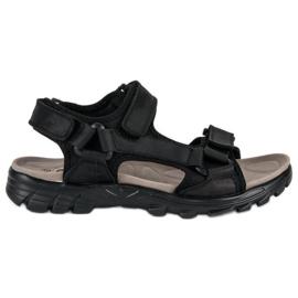 American Club Wygodne sandały american czarne