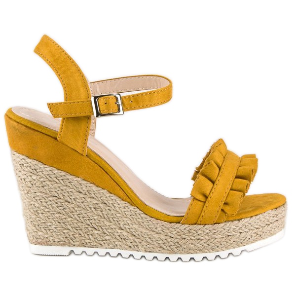 Bello Star Żółte sandały espadryle