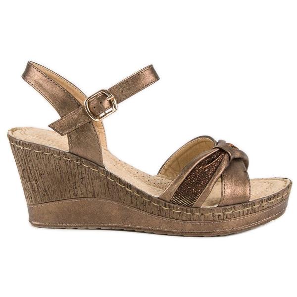 Brązowe sandały vinceza