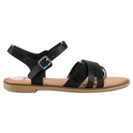 Nio Nio Klasyczne czarne sandały