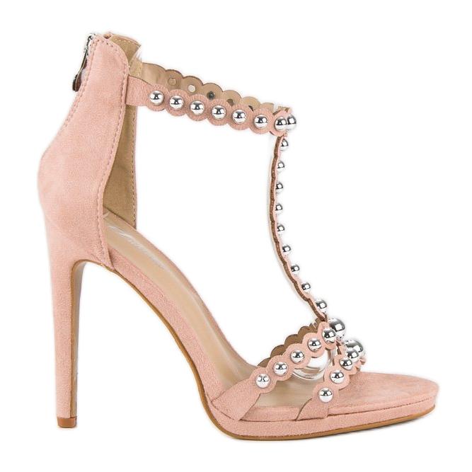 Eleganckie różowe sandałki