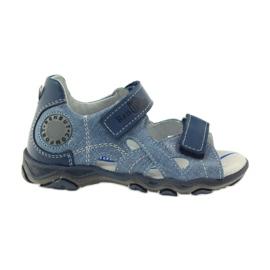 Niebieskie Sandałki Na Rzepy Ren But 3053 jeans