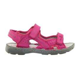 Różowe Sandałki elastyczne Ren But 4256 amarant