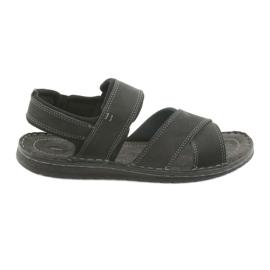 Czarne Riko buty męskie sandały sportowe 852
