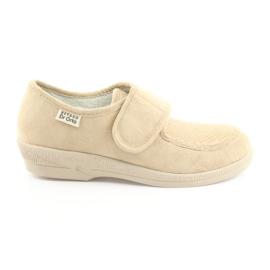 Befado obuwie damskie pu 984D011 brązowe