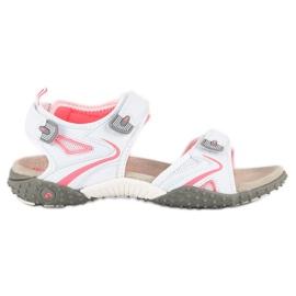 American Club Sportowe sandały american białe