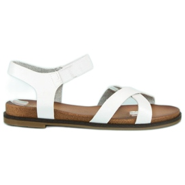 Nio Nio Białe sandały damskie