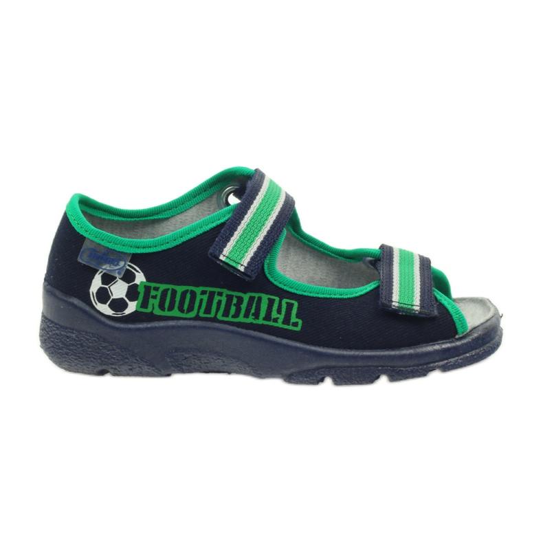 Sandałki chłopięce Befado 969x078 granatowe zielone