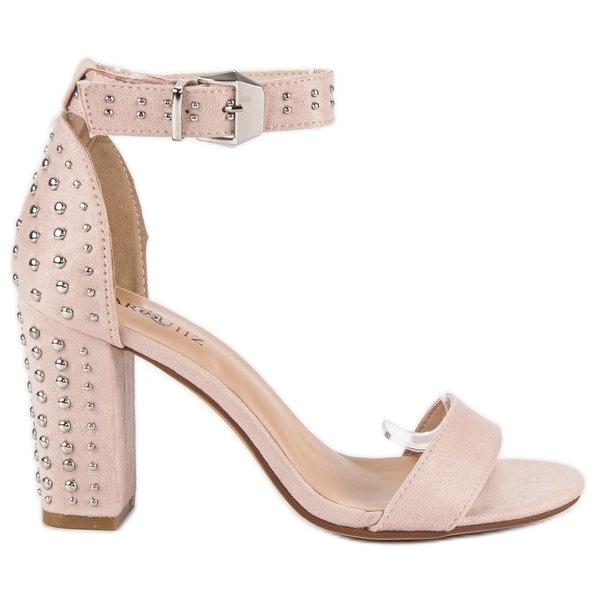 Marquiz Beżowe sandały damskie beżowy
