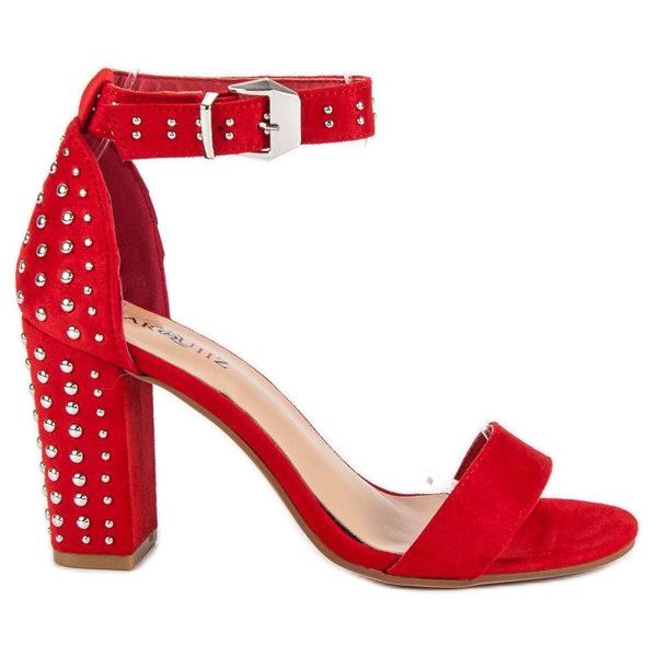 Marquiz Czerwone sandały damskie