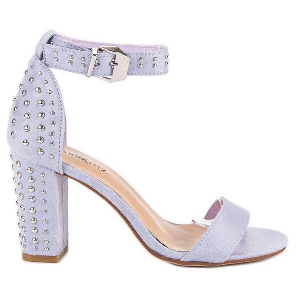 Marquiz Fioletowe sandały damskie