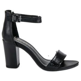 Sandały Na Obcasie VINCEZA czarne
