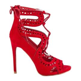 Seastar Czerwone sandały na szpilce