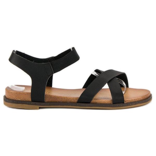 Nio Nio Czarne sandały damskie