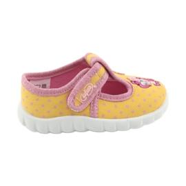 Żółte Befado obuwie dziecięce 535P001