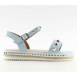 Sandałki z ćwiekami niebieskie 35-132 blue