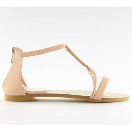 Sandałki damskie różowe 117-6 pink