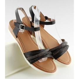 Sandałki damskie czarne 620-29 black