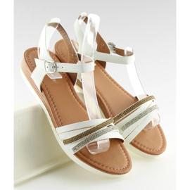Sandałki damskie białe 620-29 white