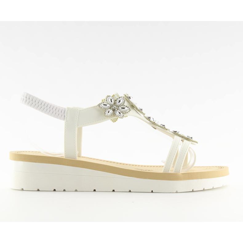 Sandałki damskie bardzo wygodne białe 981