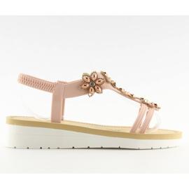 Sandałki damskie wygodne różowe 981 pink