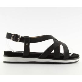 Sandałki damskie bardzo wygodne czarne 1499 Black