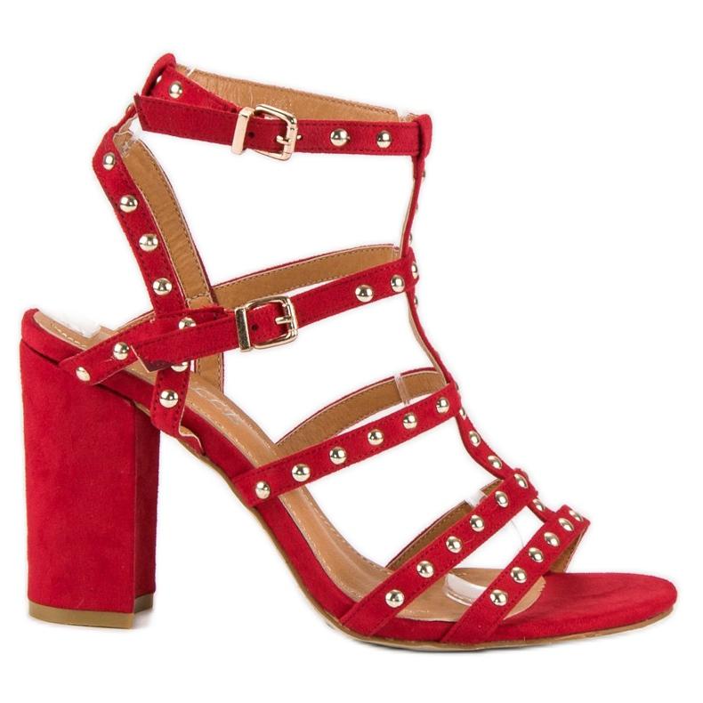 Bestelle Czerwone sandały na słupku