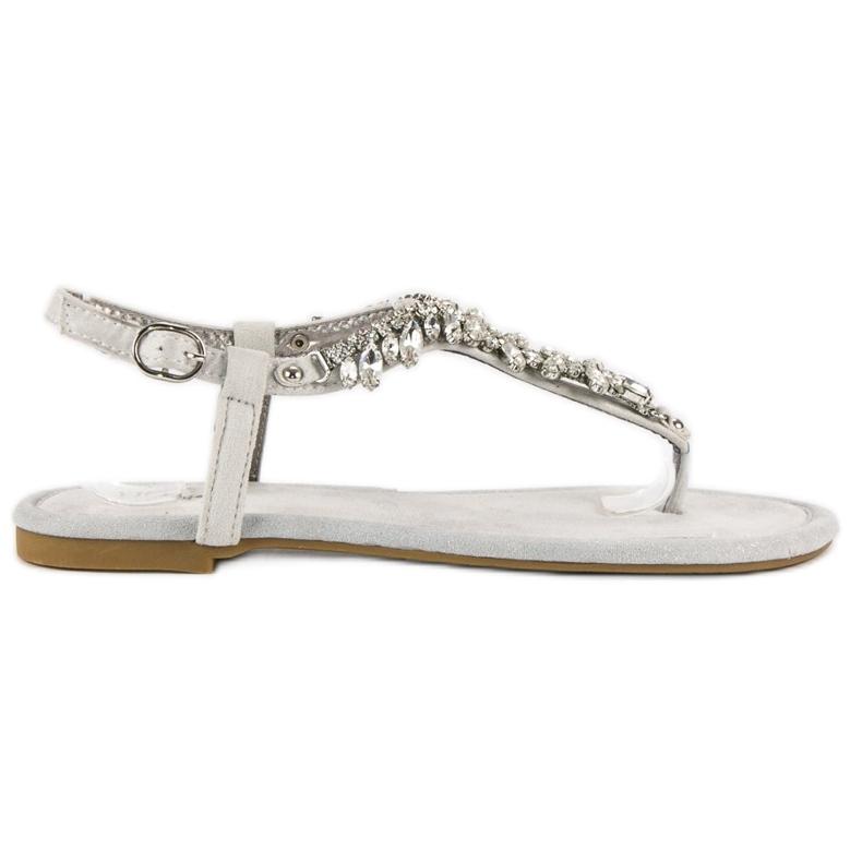 Eleganckie płaskie sandały vices szare