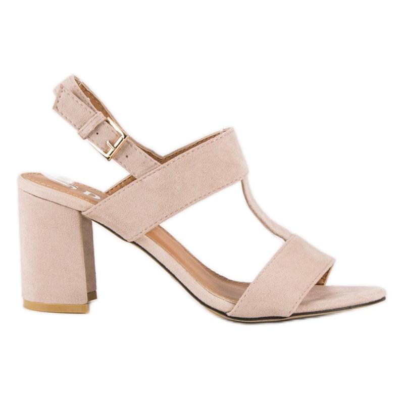 SDS Różowe sandały na słupku