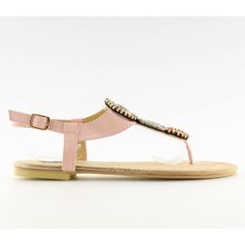 Sandałki japonki różowe 4111 Pink