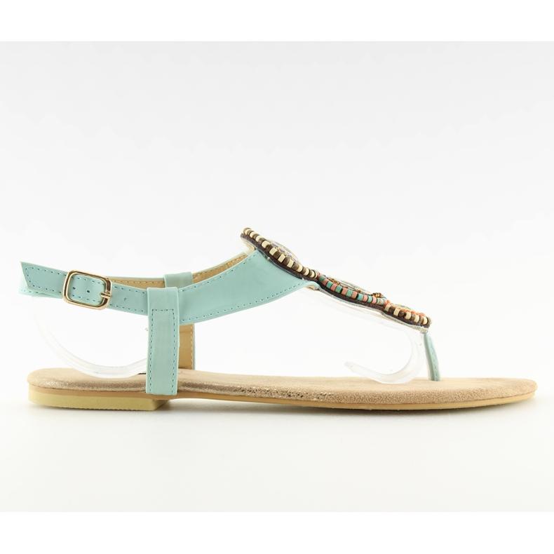 Sandałki japonki miętowe 4111 L.BLUE niebieskie