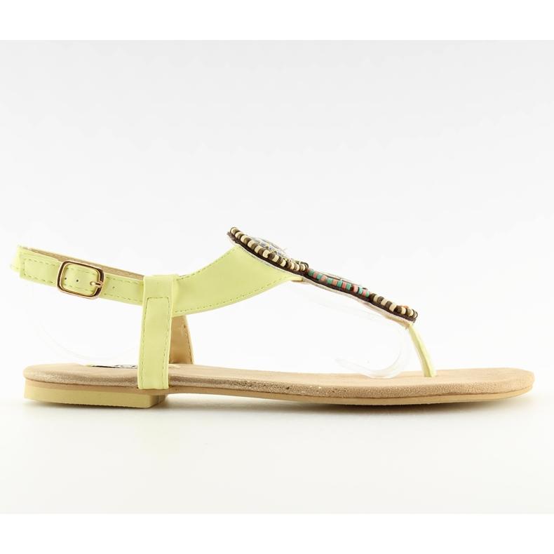 Sandałki japonki żółte 4111 Yellow