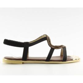 Sandałki asymetryczne czarne 4157 Black