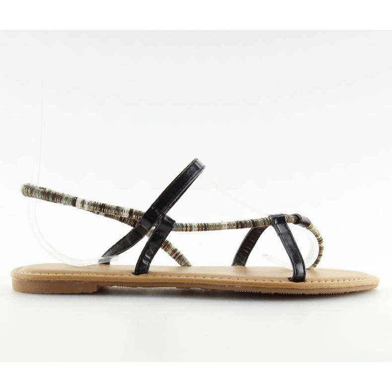 Sandałki japonki czarne 5130 black