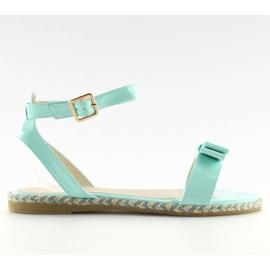 Sandałki pastelowe niebieskie 6128 blue