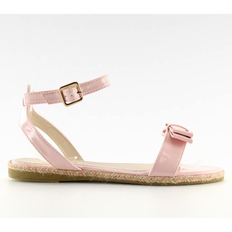 Sandałki pastelowe różowe 6128 pink