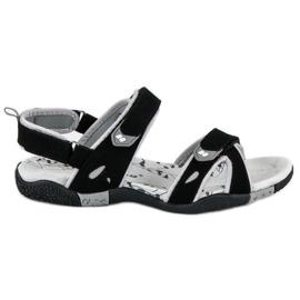 Hasby Damskie sandały na rzepy czarne