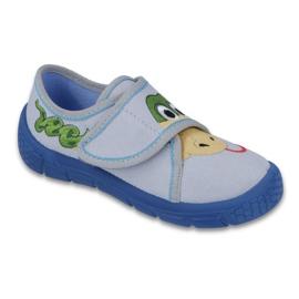 Befado obuwie dziecięce 557X029 niebieskie szare