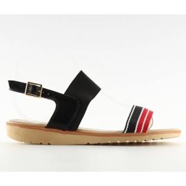 Sandałki damskie czarne J1024-A4 black