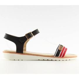 Sandałki na płaskiej podeszwie czarne J1024-A5 Black