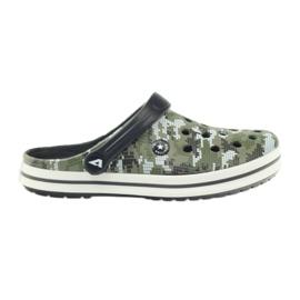 American Club Kroksy clogsy klapki sandały moro białe czarne zielone