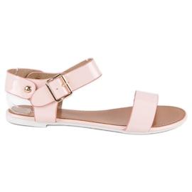 Różowe sandały płaskie vices