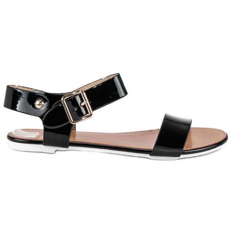 Czarne sandały płaskie vices