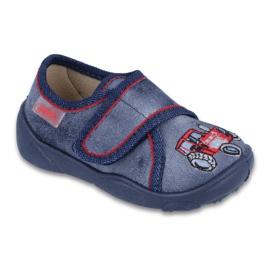 Befado obuwie dziecięce 551P001 niebieskie
