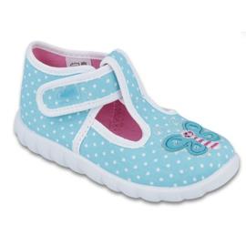 Befado obuwie dziecięce  528P005 niebieskie
