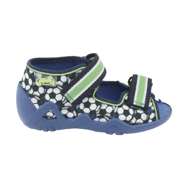 Befado zielone obuwie dziecięce 250P078