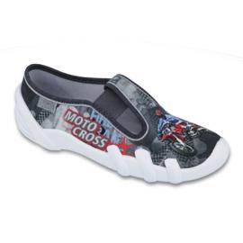 Befado inne obuwie dziecięce 290Y167 szare czerwone