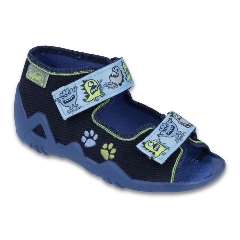 Befado zielone obuwie dziecięce 250P076